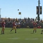 VIDEO: Aaron Rodgers displays unreal accuracy with this 45-yard pass into a tiny net http://t.co/lF9fXWHUL2 http://t.co/XLJNZVLmWg