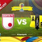 AQUÍ NO PASA... @SantaFe igualó como local 1-1 con @APetrolera y frenó su racha victoriosa. http://t.co/Z1QRt8kZiL