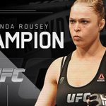 AND STILL the undefeated @UFC bantamweight champion, @rondarousey. #UFC190 http://t.co/q5FOmyKty7