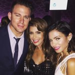 Me @channingtatum &his wife Jenna at #DFFgala2015! Such an exquisite evening of dance @DizzyFeetTweet xoP #magicmike