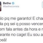 Entrou com a música Beijinho no ombro, saiu beijando a lona... Parabéns Bethe! #UFC190 http://t.co/bdqpb72YpO