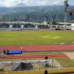 Covering Athletics 100m events at Stade Paul, Reunion Island. #IOIG2015 http://t.co/BAWaA78vFk
