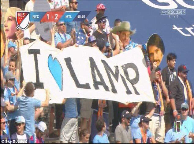 Love this from the @NYCFC fans on #Lampards debut #MLS http://t.co/C4bxlEgF1j