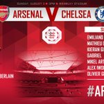The @Arsenal team to take on Chelsea #AFCvCFC http://t.co/ilht9FmtcW
