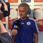 A quick pre-match interview for Jose Mourinho a short while ago... #CommunityShield http://t.co/UHUBM5jfB9