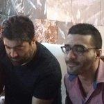 الشاعر حبيب بو انطون بضيافة الملك #وائل_كفوري في منزله @kfourywael #WaelKfoury #handsome #Lebanese . http://t.co/hJQlBeNimw