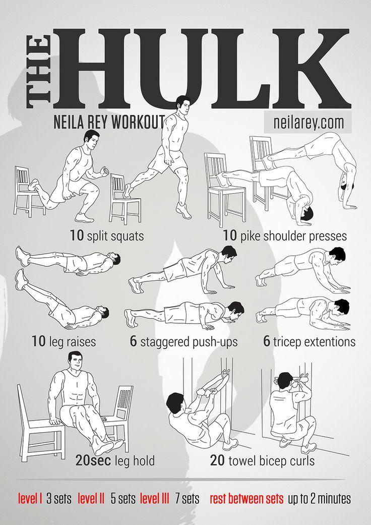 """Domingos de """"No gym? No problem!"""" ¡La fórmula que convierte a Bruce Banner en Hulk! http://t.co/M8lavGZC8q"""