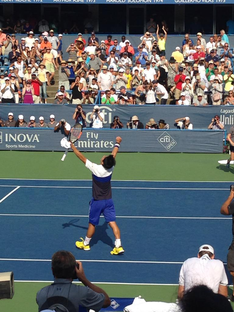 Ladies and Gentlemen, @KeiNishikori for President! #CitiOpen http://t.co/mNFSSviQPQ