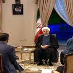 گفتگوی تلویزیونی روحانی با مردم آغاز شد روحانی در مورد مسائل داخلی، بینالمللی، مذاکرات هستهای صحبت میکند. http://t.co/balZTisqhB