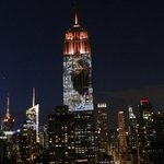 Cecil the lion lights up the Empire State Building http://t.co/TInKB7HHAY http://t.co/spjf9iEBik
