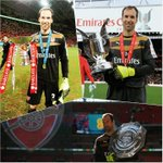 Well done @PetrCech 3 games 3 wins 3 trophies 33 years 33 jersey number #Arsenal http://t.co/pQ8dgKsp6O