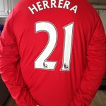 Had to get the new shirt with my favourite players name of course ???? @AnderHerrera #MUFC http://t.co/ZCRphICX7t