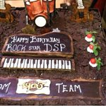 RT @onlynikil: Rock star Music Dir @ThisIsDSP Birthday Cake. It's celebration time @ #Puli Audio Launch