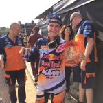There is no bigger smile in the paddock! @paulsjonas141 is the new #MX2 red plate holder! http://t.co/NcYkfrxH7t