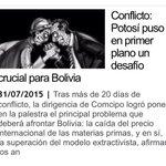 La lucha y realidad de Potosí de una u otra manera es lo que viven las regiones y Bolivia toda, es causa justa. http://t.co/RYNfsJIWxC