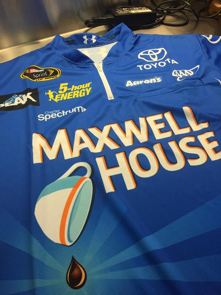 New shirt for today. Holla. @maxwell_house #MHracing   RT and @MWRteam may send you one! http://t.co/uey7iI0jkc