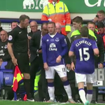 Replacing Tom Cleverley for Everton is... WAYNE ROONEY! http://t.co/ngWe1iSLbG