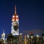 A huge picture of Cecil the lion was projected onto the Empire State Building... http://t.co/5XHQivBjM1