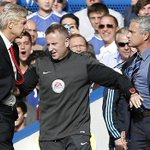 Arsène Wenger beats José Mourinho for the first time ever. Games: 14 Wins: 1 Draws: 6 Losses: 7 http://t.co/trBYTbvjwI