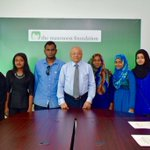 Maumoon Foundation was pleased today to give scholarships to 6 deserving students to get tertiary education abroad. http://t.co/wn4dFzxTr5