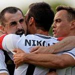 Do przerwy Legia prowadzi w Łęcznej z Górnikiem 2:0. Obie bramki zdobył Nemanja Nikolić pseudonim NiGOLić ;) #Legia! http://t.co/GA83RCrezK