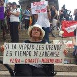 """""""Si la verdad les ofende es tiempo de largarse. Peña-Duarte-MorenoValle"""" una pancarta en el DF #JusticiaParaRubén http://t.co/loSCiQOoUU"""