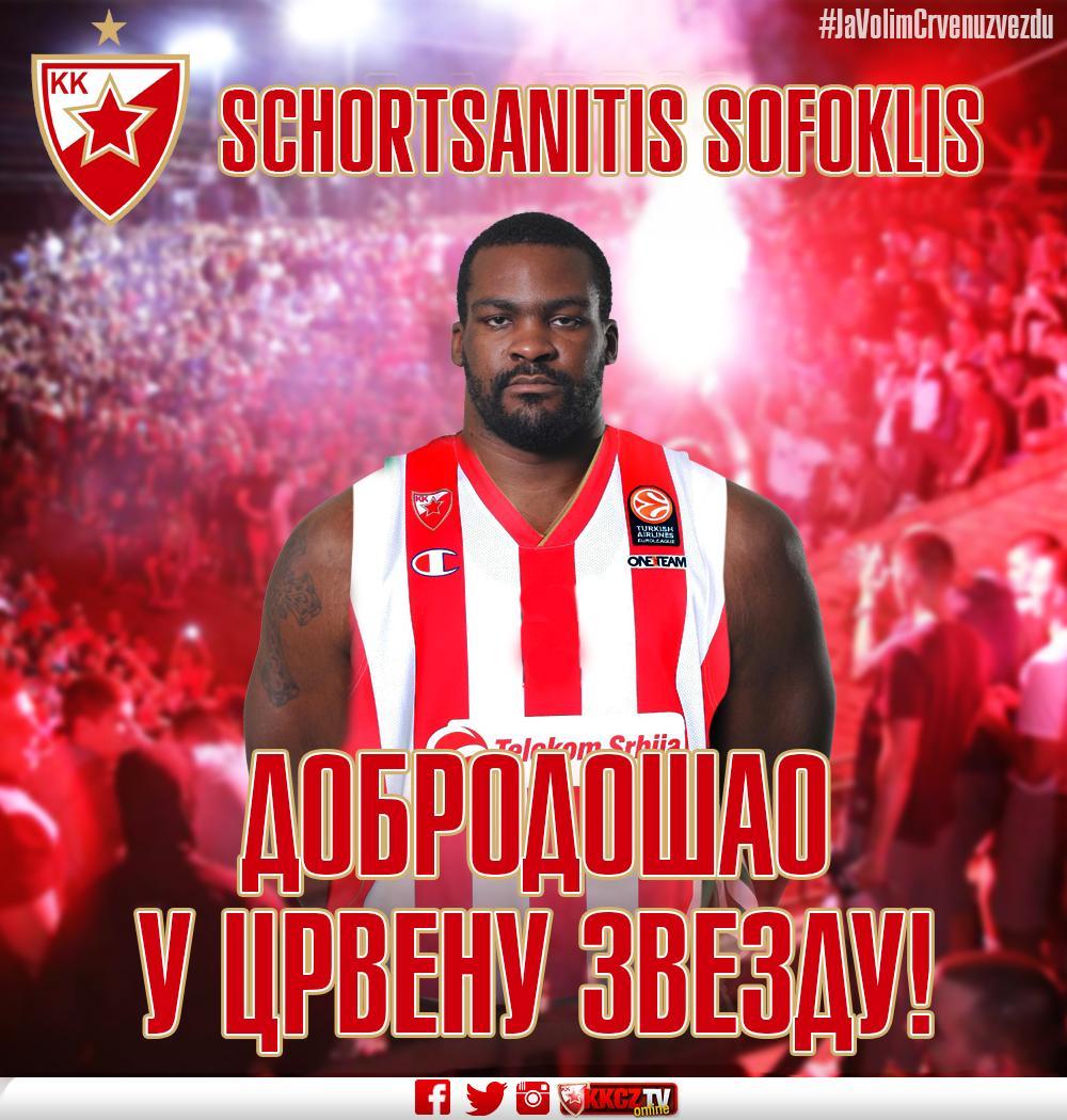 Welcome Schortsanitis! @Euroleague @MaccabiElectra @ABA_liga #WeAreTheTeam #JaVolimCrvenuzvezdu http://t.co/fYc72vj7CN