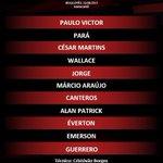 O @Flamengo está escalado para a partida de hoje. #FlaAoVivo http://t.co/d79yeCJAgJ