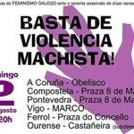 Desexamos que sexa a derradeira. Non vos esqueceremos. #StopViolenciaMachista #ourense http://t.co/Hbx2HA7ARy