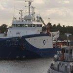 Afgelopen donderdag 30-07-2015 vertrok de Deep Helder uit de haven van #DenHelder richting zee. http://t.co/B3VbEUZQvF