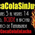 SE NECESITA TU PRESENCIA Campamento espartano C/ Sauce, 20 Fuenlabrada 3 al 14 agosto (Mañanas) #CocaColaSinJusticia http://t.co/ekSCsxehfb