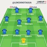 Así saldrá #Motagua ante el #America en el estadio Azteca el miércoles 5 de agosto del 2015. http://t.co/svp50n5ybE
