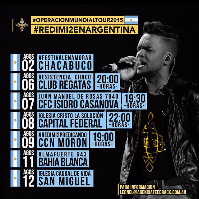 Redimi2 (@RealRedimi2): Atencion #Argentina Esto Es lo que tendremos el Resto de esta Jornada... Menciona o taguea a todos tus Amigos #Arge… http://t.co/w2kCBUcZAc