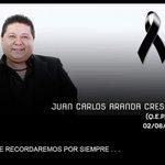 En redes sociales expresan pésame por muerte del artista Juan Carlos Aranda, ocurrida esta mañana por paro cardíaco. http://t.co/EbapOgR8C5