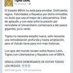 Nuevo León esta en los OJOS DEL MUNDO ☝☝☝ #OrgulloRegio ¡Felicidades @Rayados!, ¡Vamos @TigresOficial! http://t.co/Y9rqMWHS0F