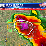 Looks like a decent hail core in far northeast Nodaway County #kq2 #weather http://t.co/P3XKSJ5kYn