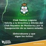 Felicitamos a @Rayados por la inauguración de su nuevo estadio. ¡Enhorabuena! #GuerrerosMásQueNunca http://t.co/BK8CKz9N9r