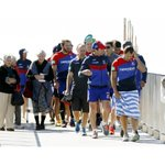 .@NRLKnights in recovery mode take to the Anzac Memorial Walk. Pic: Darren Pateman #newcastle http://t.co/RrLOay1lnz