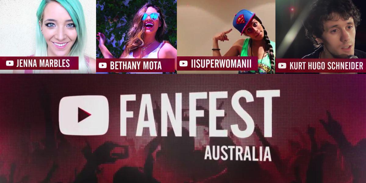 .@YouTubeFanFest returns to Sydney w @JennaMarbles, @IISuperwomanII, @natalietran and more http://t.co/Wf8ErbzSPD http://t.co/JNKLLiPZNR