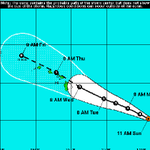 UPDATE: Guillermo, now a catergory 1 hurricane, is 790 miles east-southeast of Hilo http://t.co/twYTc0oFuW #hiwx http://t.co/Axqn35GMRo