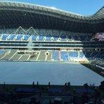 Desde mi palco VIP en el flamante Estadio de Rayados. Los envidiosos dirán que es una foto que me mandó @omarzeron. http://t.co/GNoOGYHFuN