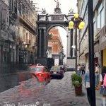 #Puebla Pasado - Presente (1864-2015). Calle de Mercaderes (actual 2 Norte) creditos: @vagabundo68 http://t.co/VeM3n6XPS2