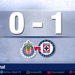 Termina el partido en Guadalajara. Triunfo celeste de visitante. Marcador final @Chivas 0-1 @cruz_azul_FC #CAFCEnVivo http://t.co/SvFgsePfRH