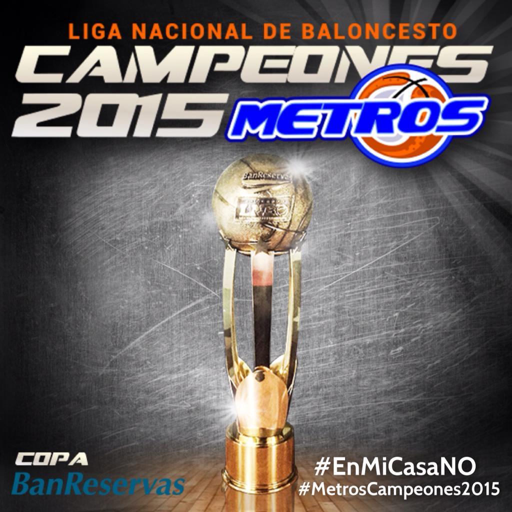 Te lo dije...#EnMiCasaNO  ¡¡METROS DE SANTIAGO CAMPEONES DE LA LNB 2015!!  #MetrosDeSantiagoCampeones2015 http://t.co/BURLWFLAqA