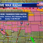 A Severe Thunderstorm Watch is in effect for northern portions of the @kq2 viewing area until 11 pm #kq2 #weather http://t.co/kSHR4YURyG
