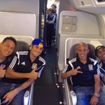 En el ✈️ rumbo a Argentina con la banda de tigres a preparar la gran final vamos Tigres👍👊 http://t.co/wXw84L9cei