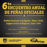 ¡¡¡ Se viene el 6to Encuentro Anual de Peñas !!! Este domingo, entradas limitadas. Compralas en el Palacio Peñarol. http://t.co/cErckNsI85