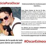 @MeDicenNewt RT POR FAVOR, se está cometiendo una injusticia. #OscarEsInocente #JusticiaParaOscar http://t.co/AFvaSwaPYW