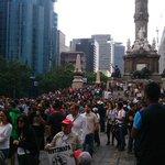 Hace unas horas en el Ángel de la Independencia en protesta por #JusticiaParaRuben http://t.co/o5CMa7q82o