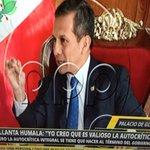 """@Ollanta_HumalaT no hace mea culpa: """"La autocrítica integral se debe hacer al término de gobierno y no en medio"""" http://t.co/0wRz7qzv7M"""